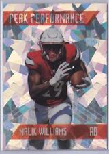 MALIK WILLIAMS 2018 SAGE Premier Draft CRACKED ICE PEAK PERFORMANCE #d 1/1