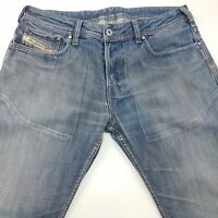 Diesel ZATHAN Mens Vintage Jeans W32 L28 Blue Regular Fit Bootcut Mid Rise