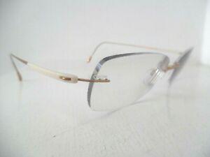 Unisex Silhouette Titan Cream & Gold Rimless Eye Glasses 6780 20 6052 ???