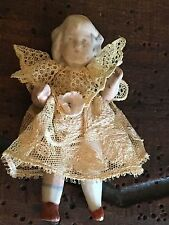 Antique Tiny French Doll Provence circa 1800s French Lace Clothing