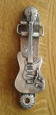 GUITAR DOOR KNOCKER (EXCLUSIVE DESIGN) Solid English Pewter  FREE UK POST