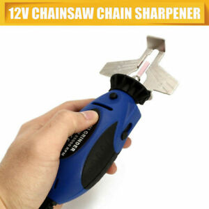 Chainsaw Sharpener Chain DC 12V Electric Grinder Filing Guide Tool Attachment