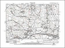 Endon Bank, old map Staffordshire 1925: 7SE repro