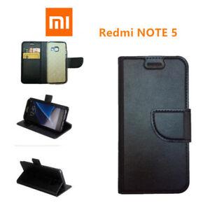 CUSTODIA COVER  LIBRO per Xiaomi Redmi NOTE 5 ECO PELLE