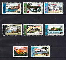 Comores république lot de 8 paysages de 1975 surchargée  poste aérienne  **