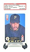 1992 US Playing Cards Pirates BARRY BONDS Baseball Card PSA 10 GEM MINT / Pop 16