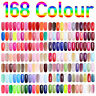 168 Colors Nail Gel Polish UV Soak Off Gel Nail Art Long Lasting Gel Makeup