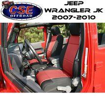Red Neoprene Front Seat Covers Jeep Wrangler JK 2007-2010 13214.53 Rugged Ridge
