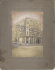 VINTAGE F. DE LUCA BUILDING PHOTO, CORNER OF GRAND AVE & EAST ST, NEW HAVEN CONN