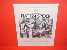 1971 FIAT 124 SPIDER CONVERTIBLE CAR & DRIVER ROAD TEST BROCHURE CATALOG 71