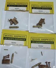 """Model Ship Boat Accessories Fittings Carronade - Brass - Wood Carriage – 31/32"""""""