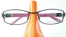 Brille Gestell schwarz lila ausgefallen Metall Rahmen Kunststoffbügel Damen Gr M