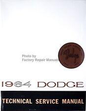 1964 Dodge Dart 170 270 GT Polara 330 440 Technical Shop Service Manual Reprint