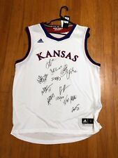 2017-2018 KANSAS JAYHAWKS JERSEY TEAM SIGNED AUTHENTIC AUTOGRAPH COA KU DEVONTE