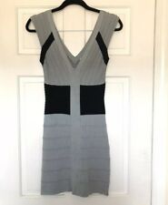 4dad8d08a884 New listing Tricot Joli Women's Gray Black Color Block Fitted Bodycon  Bandage Dress Small