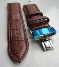 24mm Originale Cinturino in pelle marrone chiusura a farfalla. PANERAI Glycine Braun