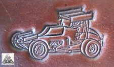 Detailed Dirt Track Sprint Car Embossing Plate Leather Stamp Outlaw Series #3