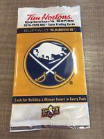 Factory Sealed 2019-20 Upper Deck Tim Hortons BUFFALO SABRES Cards- 3 cards