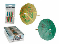 Cocktail Stick Umbrellas / Flower Rosette - Decorations Drink Party Hawaii Hula