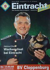 Programm 1995/96 Eintracht Braunschweig - BV Cloppenburg