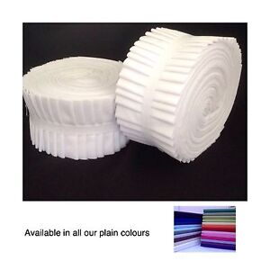 10-50 Plain Jelly Roll Strips, 100% Cotton, Quilting, Patchwork, Sewing 44inch