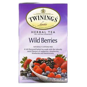 Herbal Tea, Wild Berries, Caffeine Free, 20 Tea Bags, 1.41 oz (40 g)