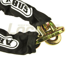 Abus 2ft x 14mm Maximum Security chain covered with one elongated end link