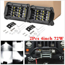 2x 4 Inch 72W CREE LED Work Light Car Flood Bar Offroad Fog Lamp 4WD Jeep SUV