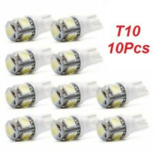 10Pcs Super White T10 Wedge 5 SMD 5050 LED Light bulbs W5W 2825 158 192 168 194