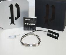 Police Unisexe Bracelet Transparent PJ23022BSS/01-L Acier Inoxydable Argent Neuf