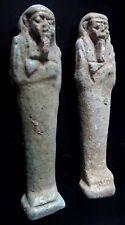 2 Antique amulet shabti oushebti egyptian funerary figure basse epoque