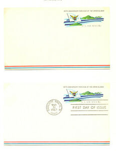 USA Air mail postal card UXC6 unused, FDC, 2 used (1 in period)