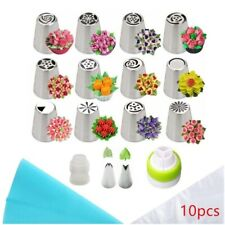 14pcs Icing Nozzles Set Flowers Confectionery Piping Cream Pastry Bag Cake Tool