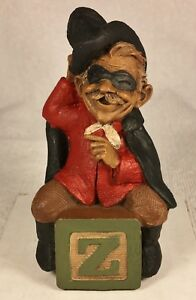 """ALPHABET """"Z""""-R 1994~Tom Clark Gnome~Cairn Item #5258~Ed #34~Story is Included"""
