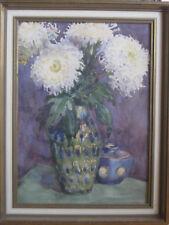Aquarell Stillleben Bertha Schilling (1870-1953) Fischerhude Blumen Bunzlau Vase