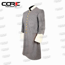 Civil War Confederate Officer's Grey with Off White Single Breast Frock Coat