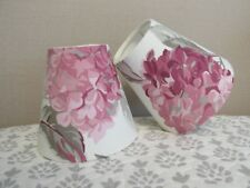 Handmade Candle Clip Lampshade  Laura Ashley Hydrangea Berry Pink  fabric