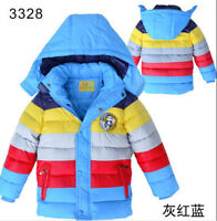New Fashion Kids Boys Girls Coat Winter Warm padded cotton Down Short Jacket