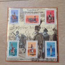 TIMBRE France 2004 Bande feuillet 72 : Napoléon 1er et la garde impériale, neuve