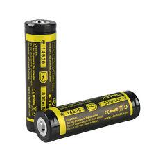 2 XTAR 14500 800mAh Rechargeable Li-ion Batteries