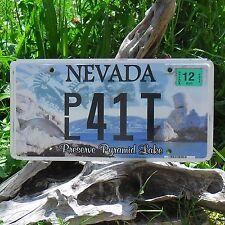 Véritable Plaque D'Immatriculation du Nevada (41T) USA - License Plate