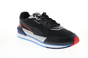 Puma BMW MMS Low Racer Mens Black Motorsport Inspired Sneakers Shoes
