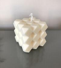 Geometric Rubik's Bubble Cube Candle Scandi Soy Wax