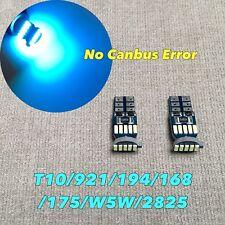 Parking Light T10 SMD LED Wedge 194 175 2825 168 12961 W5W Bulb ICE BLUE W1 J