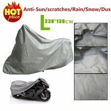 L Waterproof Motorcycle Cover Sheet Motorbike Moped Scooter Rain Large Size UK