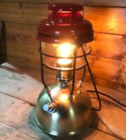 Industrial 1960's X246A Vintage Tilley Lamp Red Dome,Steampunk, Retro Electric