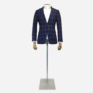 Canali Kei Sport Jacket, Tartan Wool & Cashmere. Size 34 UK, 44 IT