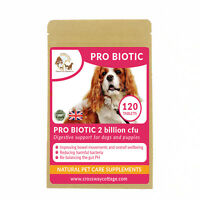 5 Strain Probiotic for Dogs & Puppies Healthy - Improved Immunity 120 Tablets