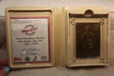 HIGHLAND MINT 1985 TOPPS BRONZE CARD MARIO LEMIEUX LIMITED EDITION COA /5000