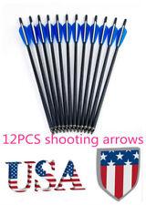 Us 12-piece 20 inch Cross Hunting Crossbow Arrow Archery Shooting Od8.8mm